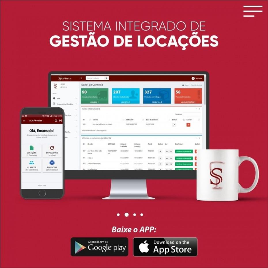 Sistema de gestão de locações + App